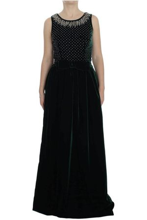Dolce & Gabbana Velvet Crystal Long Maxi Dress , Mujer, Talla: XS - 40 IT