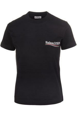Balenciaga Political Campaign Logo T-Shirt , Mujer, Talla: XS