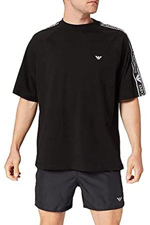 Armani Crew Neck T-Shirt Bold Logo Tape Camiseta
