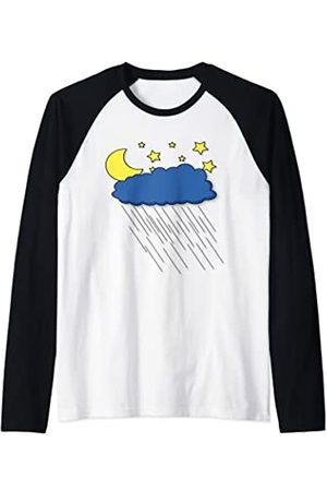 Fashion Tees Pijama de noche para dormir con lluvia Camiseta Manga Raglan