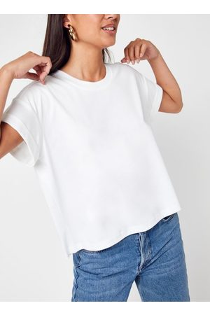 Knowledge Cotton Apparal Mujer Manga corta - VIOLET Loose Roll Up T-shirt - GOTS/Vegan