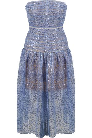 Self Portrait Embroidered tulle bustier dress , Mujer, Talla: 2XS - UK 6