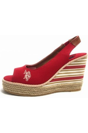 US Polo Scarpe Zeppa Romy Suede Canvas TC 90 PL 20 Ds 17Up 10 , Mujer, Talla: 39