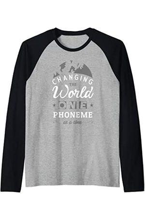 Bonita ropa de sensibilización sobre la dislexia Changing The World One Phoneme At A Time Dislexia Camiseta Manga Raglan