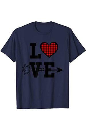 Love Heart Tee Shirts Gifts Ideas Buffalo - Camiseta de pijama para el día de San Valentín Camiseta