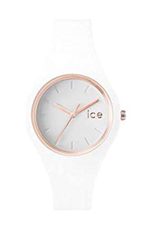 Ice-Watch Ice Glam White Rose-Gold - Reloj para Mujer con Correa de Silicona