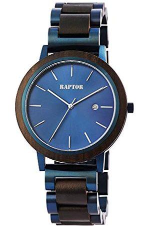 Raptor Reloj Análogo para de los Hombres de Cuarzo con Correa en Madera RA20319-003