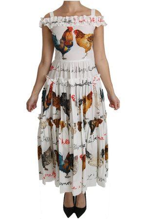 Dolce & Gabbana Rooster Sheath Midi Dress , Mujer, Talla: M - 44 IT