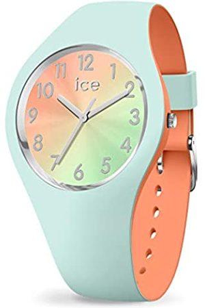 Ice-Watch Mujer Relojes - ICE Duo Chic Aqua Coral - Reloj Verde para Mujer con Correa de Silicona