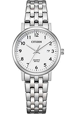 Citizen Reloj Analógico para Mujer de Cuarzo con Correa en Acero Inoxidable EU6090-54A