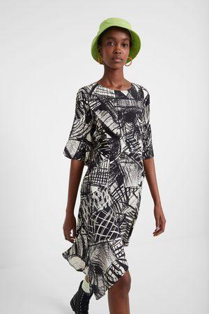 Desigual Mujer Vestidos - Vestido arty Black & White