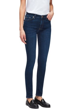 7 For All Mankind Mujer Pitillos - Jeans Skinny Slim , Mujer, Talla: W27