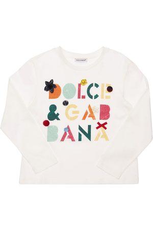 DOLCE & GABBANA | Niña Camiseta De Algodón Estampada Y Decorada 8a