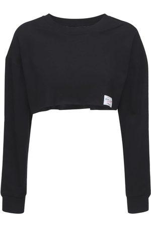 ADAM SELMAN SPORT   Mujer Camiseta Cropped De Algodón Xs