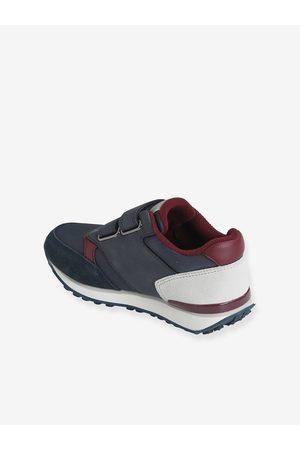 Vertbaudet Niño Zapatillas deportivas - Zapatillas con tiras autoadherentes estilo running, para niño oscuro liso con motivos