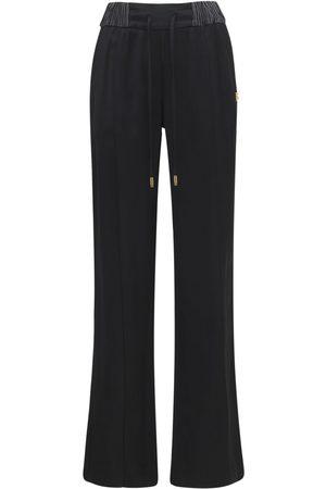 DOLCE & GABBANA | Mujer Pantalones Anchos De Satén De Viscosa 36