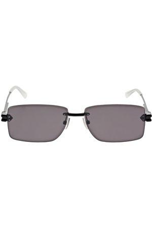 BOTTEGA VENETA   Hombre Gafas De Sol Cuadradas De Metal /gris Unique
