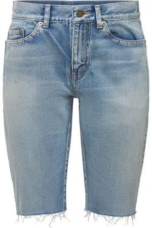 SAINT LAURENT | Mujer Shorts Largos De Deshilachados 25