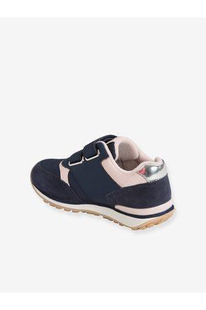 VERTBAUDET Zapatillas con tiras autoadherentes estilo running, para niña medio liso con motivos