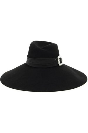 Le Mont St Michel Mujer Sombreros - Virginie felt fedora hat with jewel buckle , Mujer, Talla: L