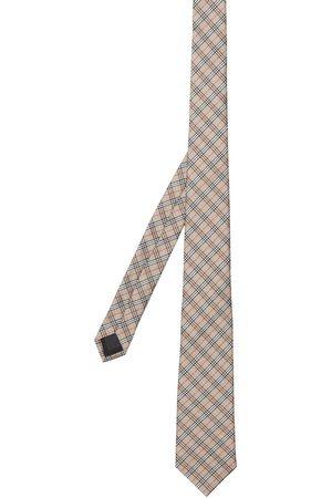 Burberry Hombre Corbatas y corbatín - Corbata con microcuadros en jacquard