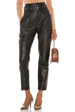 Song of Style Pantalón cuero suzie en color talla M en - Black. Talla M (también en S).