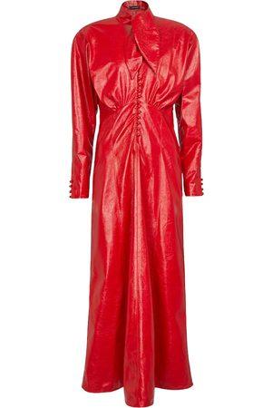 Isabel Marant Vestido largo Genazuli de piel sintética