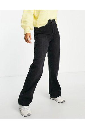 Mango Mujer Cintura alta - Vaqueros dad negros de pernera recta de