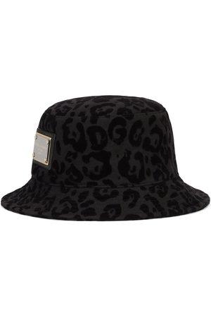 Dolce & Gabbana Hombre Sombreros - Sombrero de pescador con motivo de leopardo
