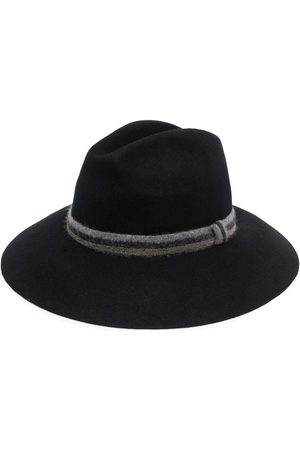 Fabiana Filippi Mujer Sombreros - Sombrero fedora con detalle de rayas