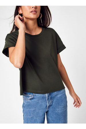Knowledge Cotton Apparel VIOLET Loose Roll Up T-shirt - GOTS/Vegan