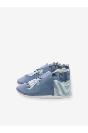 Robeez Bebé Zapatillas deportivas - Zapatillas patucos de piel ligera para bebé Diflyno © medio liso con motivos