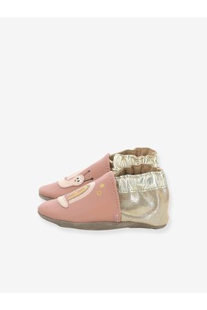 ROBEEZ Bebé Zapatillas deportivas - Zapatillas patucos de piel ligera para bebé Rainbow Snail © medio liso con motivos