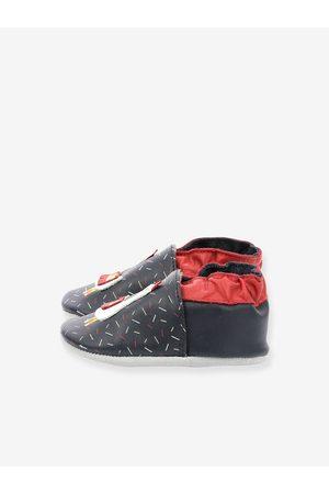 Robeez Bebé Zapatillas deportivas - Zapatillas patucos de piel ligera para bebé Lamalaya © oscuro estampado