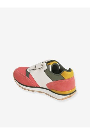 Vertbaudet Niña Zapatillas deportivas - Zapatillas con tiras autoadherentes estilo running, para niña fuerte liso con motivo