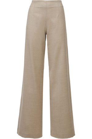 LARDINI | Mujer Pantalones Eboshi De Franela De Lana Stretch 36
