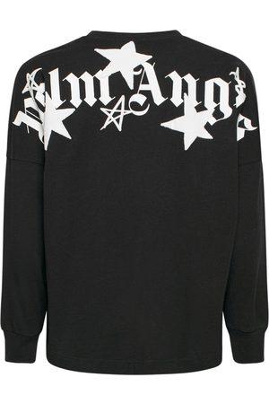 PALM ANGELS | Hombre Camiseta De Algodón Estampada /blanco Xxs