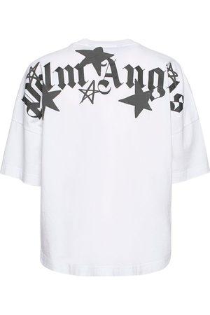 PALM ANGELS | Hombre Camiseta De Algodón Estampada /negro Xxs
