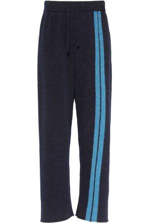 PALM ANGELS | Hombre Pantalones Jogging De Punto De Mezcla De Lana /azul S