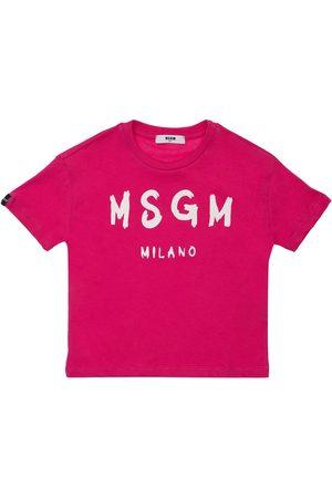 MSGM | Niña Camiseta De Jersey De Algodón Estampada 8a