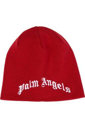 Palm Angels Niño Gorros - Gorro de lana con logo bordado