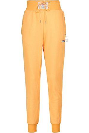 Adam Selman Sport Pantalones en mezcla de algodón de tiro alto