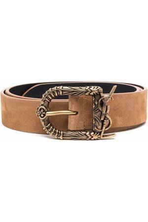 Saint Laurent Hombre Cinturones - Suede buckle belt