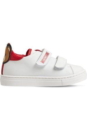 MOSCHINO | Niña Sneakers De Piel Con Correas Y Teddy Bear /rojo 22