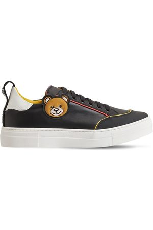 MOSCHINO | Niña Sneakers De Piel Con Cordones 35
