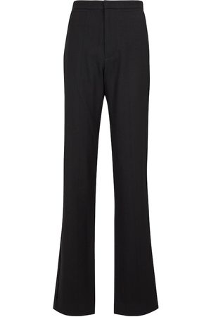 Ann Demeulemeester Mujer Pantalones de talle alto - Pantalones de lana virgen de tiro alto
