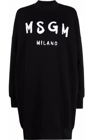 MSGM Vestido estilo sudadera con logo