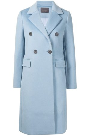 Lorena Antoniazzi Mujer Abrigos largos - Abrigo de lana con doble botonadura