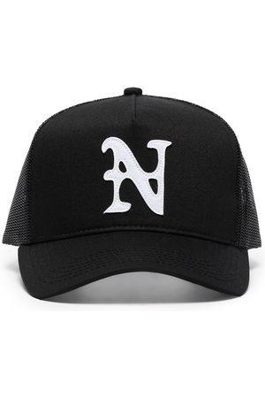 Nahmias Hombre Sombreros - LOGO TRUCKER HAT BLACK