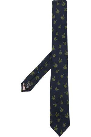 PAUL SMITH Hombre Corbatas y corbatín - Corbata de seda con hojas estampadas